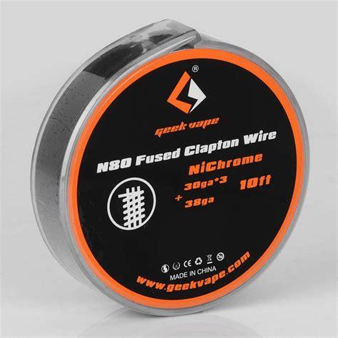 Geekvape Vape Wire Nichrome 80 Ni 80 24 Awg 30 Ft Kawat Vape authentic geekvape n80 fused clapton 0 88 ohm 3m heating wire