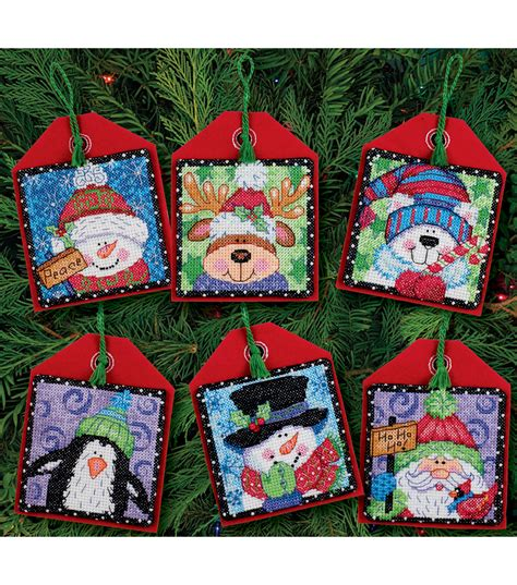 dimensions christmas pals ornaments counted cross stitch