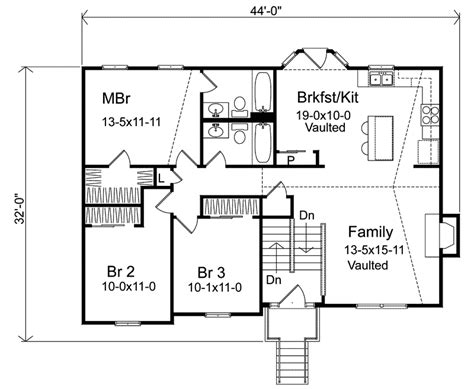 split level house floor plan oaklawn split level home plan 058d 0069 house plans and more
