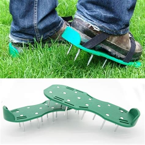 lawn aerator shoes best pair green garden lawn aerator spikes aerating shoes