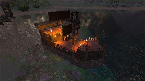ark pirate boat ark survival evolved vanilla ship build tutorial with