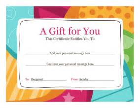 Birthday Gift Certificate Template Word by Birthday Gift Certificate Template Template For Word 2013