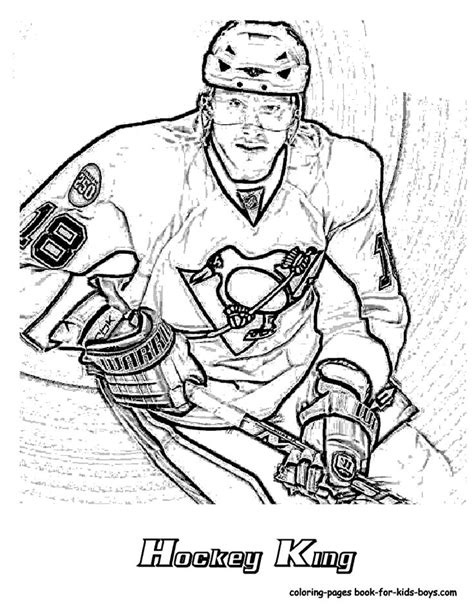 sidney crosby coloring figures coloring pages