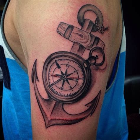 anchor compass tattoo 20 awesome anchor and compass entertainmentmesh