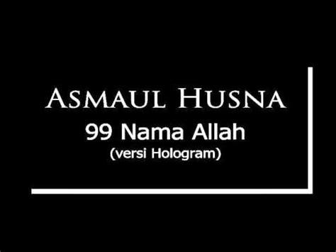 download mp3 gratis lagu asmaul husna asmaul husna 99 nama allah full