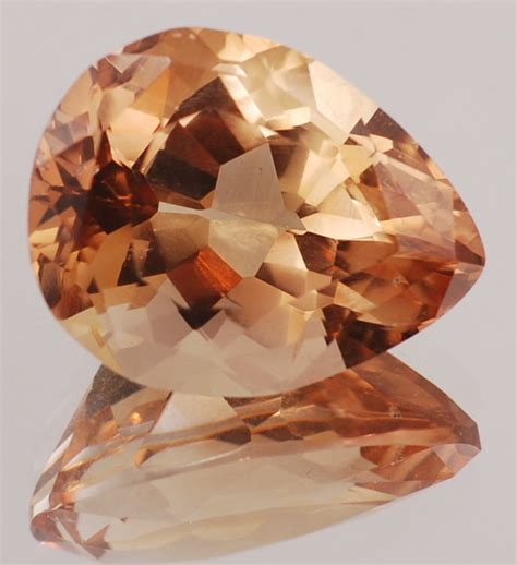 pear precious and imperial topaz gemstones at