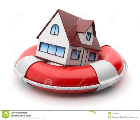 house property insurance house in lifebuoy property insurance isolated royalty free stock photos image