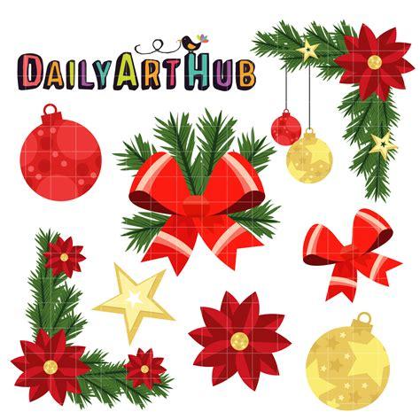 christmas decoration clip art set daily art hub free