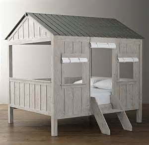 Roman Shades With Designs - kids cabin bed by restoration hardware