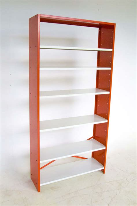 vintage orange metal bookcase catawiki