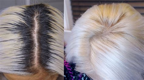 retouch dark roots not red diy white hair root touch up asian hair maricarljanah
