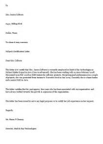 Certification Letter Format Example Free Sample Letters Page 16 Of 18 Format Examples And