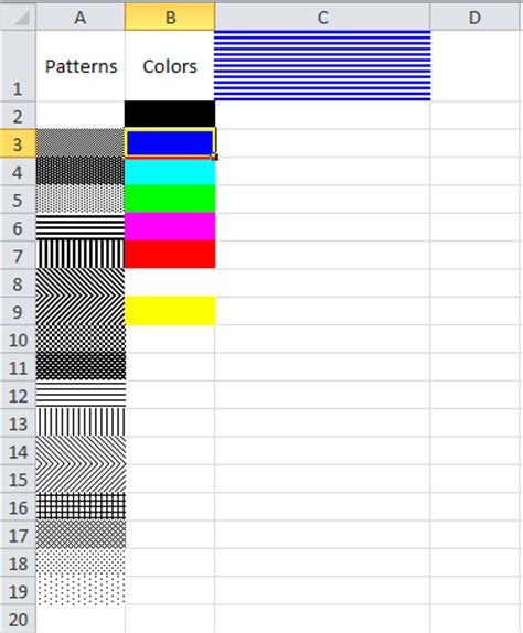 excel 2007 black and white pattern fills vba excel change cell color index change a cells