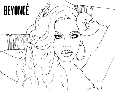 Beyonce Coloring Coloring Pages