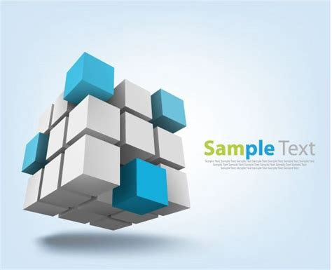 abstract cubes background vector illustration free