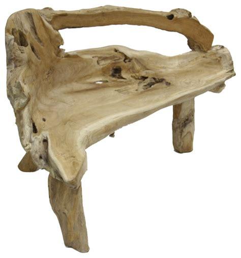 teak root bench teak root bench