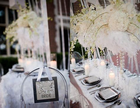 white feather wedding inspiration wedding centerpiece