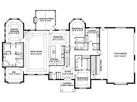 one floor open house plans eplans craftsman house plan craftsman 1 story retreat open floor plan 3544 square and 3