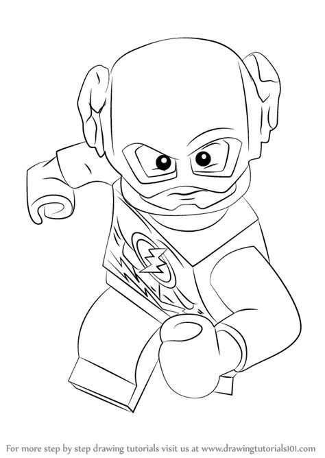 coloring pages lego flash learn how to draw lego the flash lego step by step