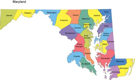 maryland counties map maryland map with counties