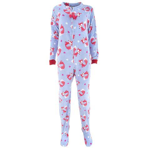 Pajamas Blue fox sky blue footed pajamas for