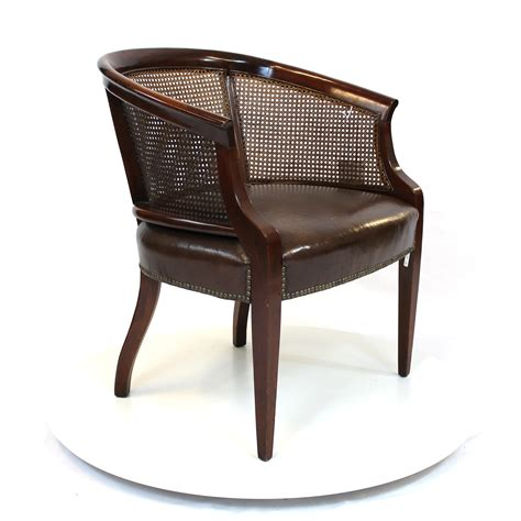 rattan barrel chair regency rattan back barrel chair with leather