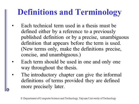 dissertation definition of terms computer for computer major master candidates