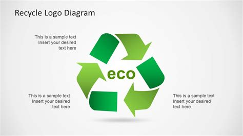 recycling powerpoint simple recycle diagram template for powerpoint slidemodel