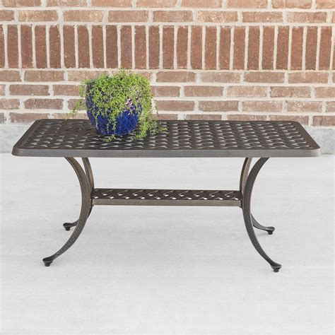 Patio Furniture Company by Walker Edison Furniture Company Cast Aluminum Wicker Style
