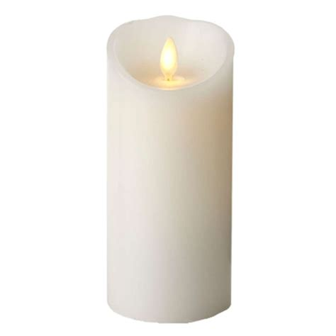 luminara fireless candle ultra realistic flameless candle luminara 02181 3 quot x 8 quot white unscented wavy edge