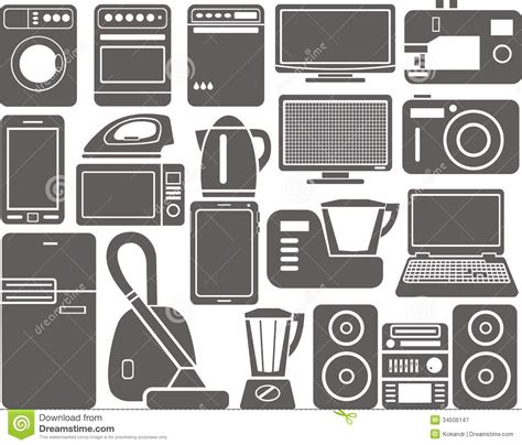 How To Draw House Plans On Computer home appliances stock vector image of appliances