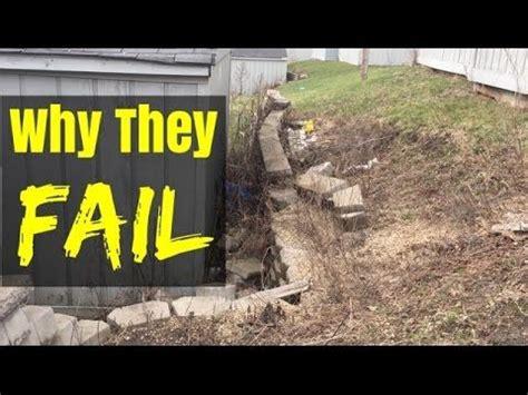 build  retaining wall    fail