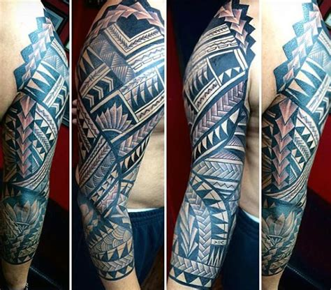 tattoo ideas for mens sleeves 90 tribal sleeve tattoos for manly arm design ideas
