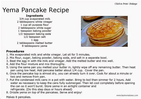printable pancake recipes can of condensed milk bing images