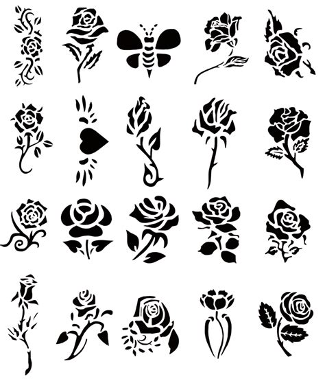 tattoo rose stencil stencils ideas rosegate