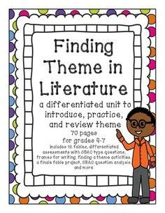 exles of themes in literature 4th grade task cards for themes for 4th 5th grade literature