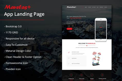 bootstrap themes landing page marvelas bootstrap app landing page bootstrap themes on
