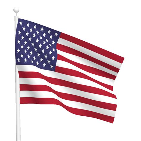 3ft x 5ft 1 ply polyester american flag with heading and