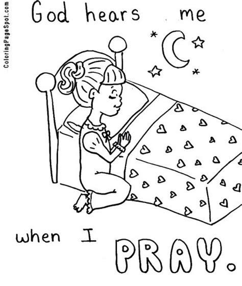 coloring page girl praying praying hands printable clip art girl praying coloring