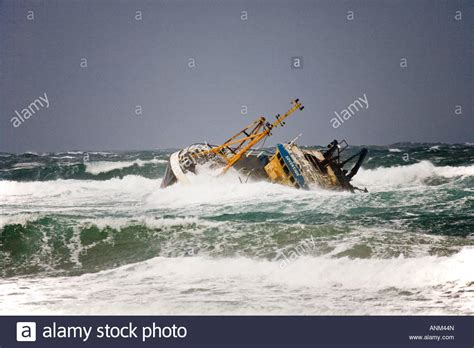 fishing boat accident fraserburgh shipwreck ship aground rocks stock photos shipwreck ship