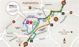 alpharetta map parking verizon hitheatre