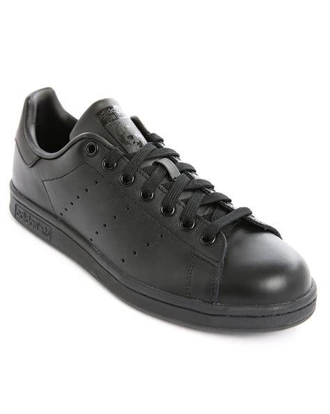 adidas full black adidas originals stan smith full black in black for men lyst