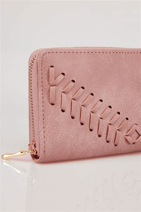 Address Finder From Name And Town Pink Zip Around Purse With Herringbone Stitch Detail