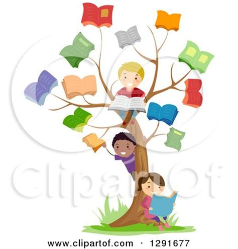 the art of children s picture books tree houses clipart of happy school children playing at a reading book