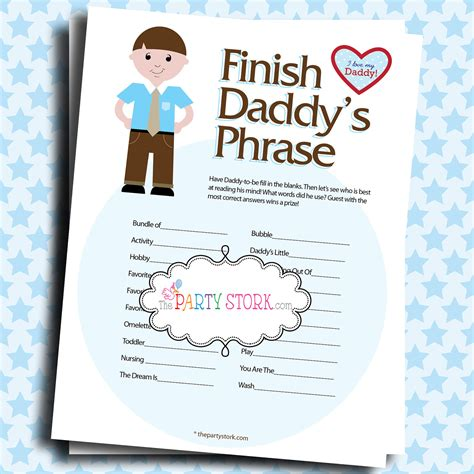 bathroom games for boy baby shower games finish daddy s phrase printable many