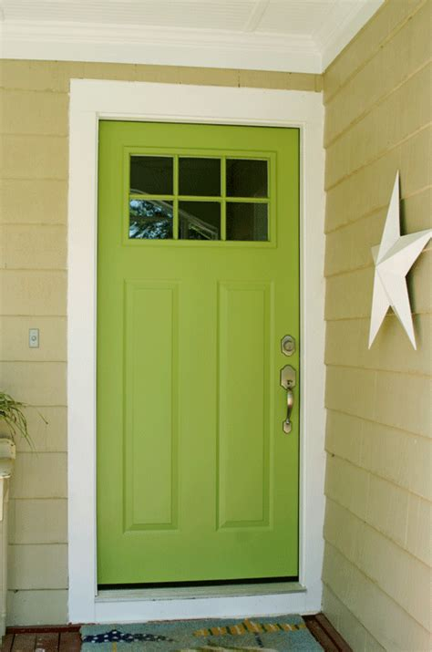 Green Exterior Door Bright Green Doors Front Door Freak