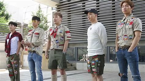 bangs boy scout watch the 1st episode of bigbang s goofy new show is here