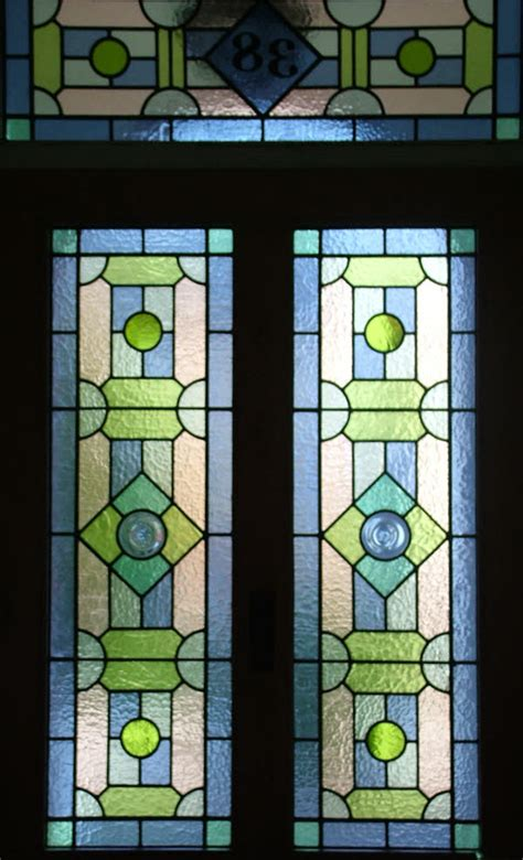 geometric abinger stained glass