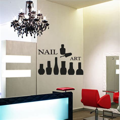 wall sticker shop aliexpress buy nail vinyl wall decal nails manicure master butterfly lacquer paint