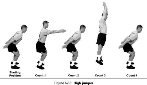 how to a from jumping on aprt 6 46 exercise 3 high jumper 171 army physical fitness test apft fm 21 20 tc 3